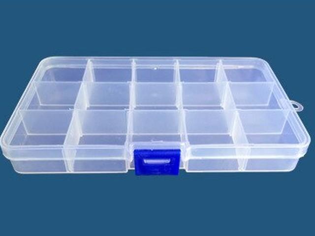 Sortimente tároló doboz (max. 15 rekesz)