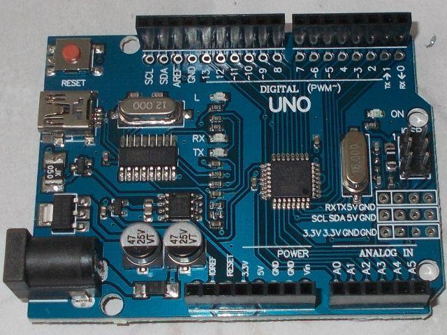 AVR-Duino / Uno (R3; CH340, miniUSB)