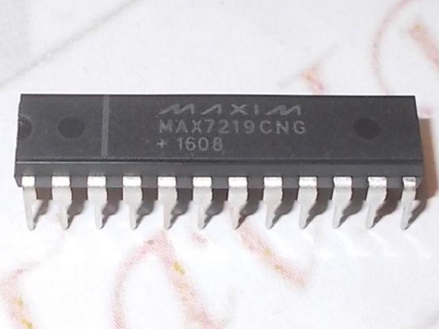 MAX7219 LEDmeghajtó chip (7szegmens, mátrix)