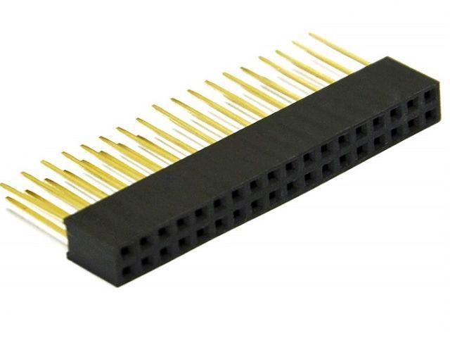 2x18 pin hüvely-tüskesor (1#, 12mm)