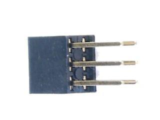 2x3 pin hüvely-tüskesor (1#, 12mm)