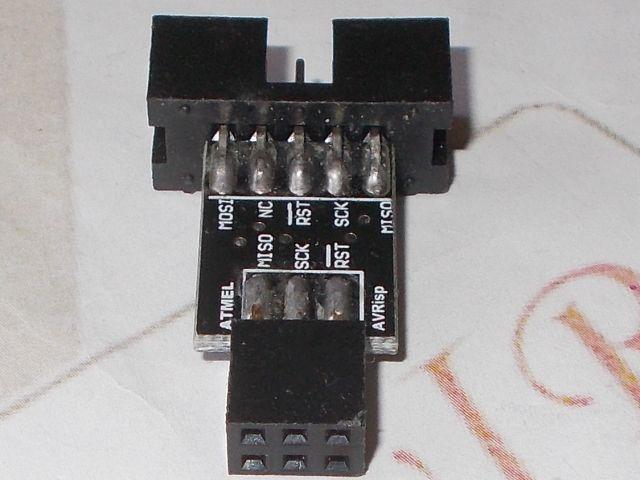 ISP10/6 konverter (STK500/MKII programozóhoz)