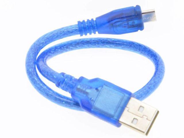 USB-A/USB-Bmicro kábel (kék, 30cm)