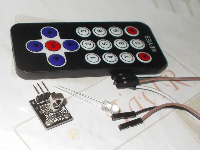 Távirányító (17 gomb) + IR adó LED + IR-vevő
