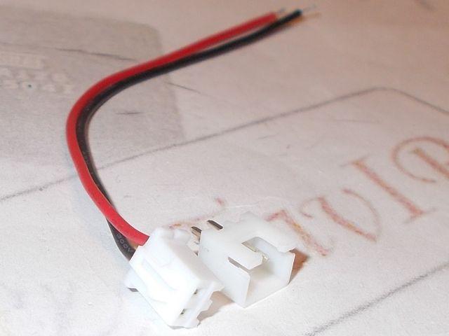 JST-XH2.54 csastlakozó 2 pin, 10cm kábel szerelt anya/apa (1#)