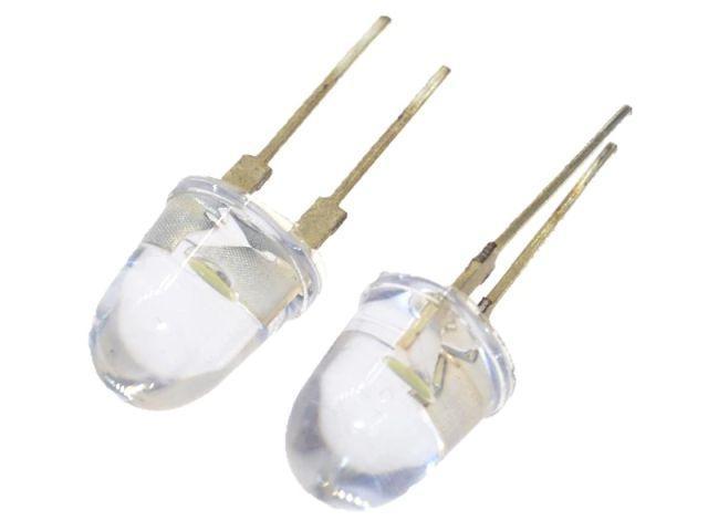 LED - Fehér csomag (10db/pack, 10mm)