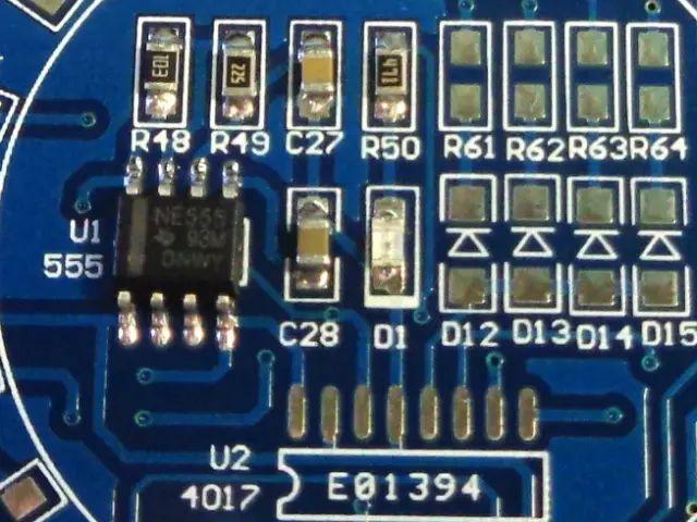 Gyakorlópanel SMD II. (4017, LED)