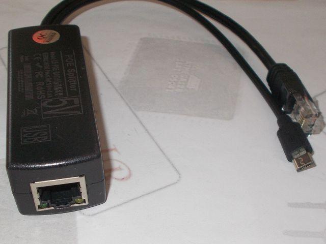 Ethernet POE kimenet (RJ45/5V microUSB)