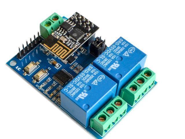 IoT - 2 csatornás relémodul (2xRelay/ESP-01)