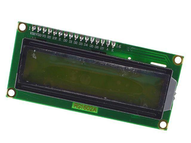 TavIR LCD (zöld, 2x16, 1602) + I2CLCD bővítő (egybeszerelt)