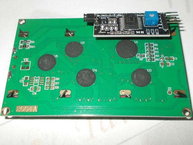 TavIR LCD (kék, 4x20) + I2CLCD bővítő (egybeszerelt)