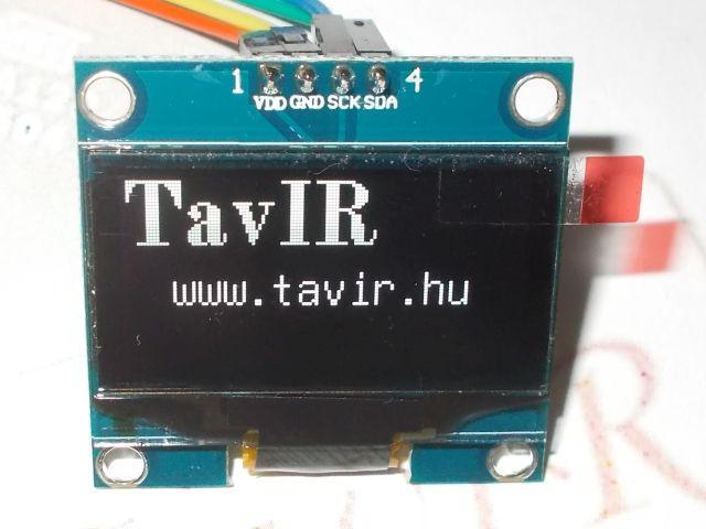 """1.3"""" OLED (128*64, IIC, fehér, SH1106)"""