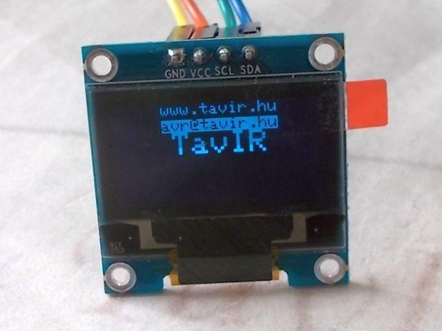 "0.96"" OLED (128*64;I2C, kék)"