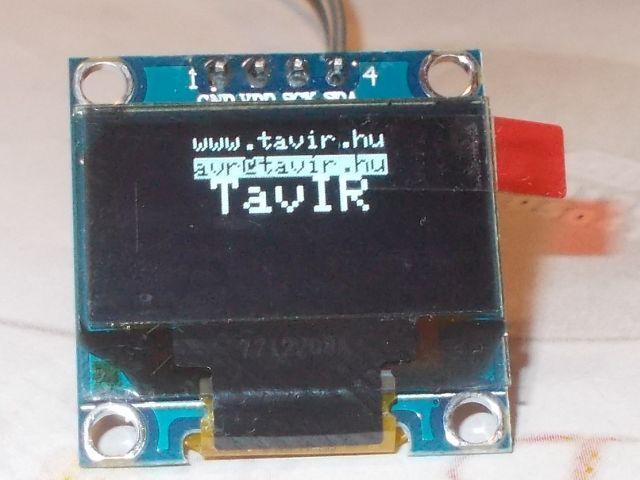 """0.96"""" OLED (128*64;I2C, fehér)"""