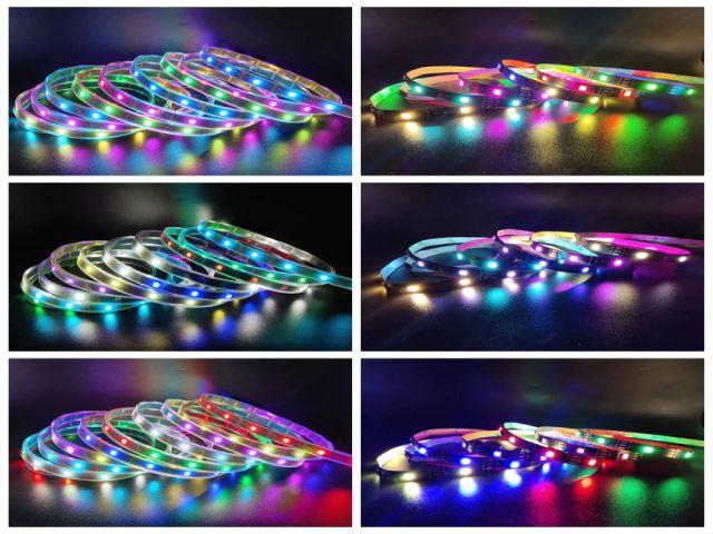 Címezhető LED-szalag vízálló (1m, fehér, 30LED/m, WS2812B)