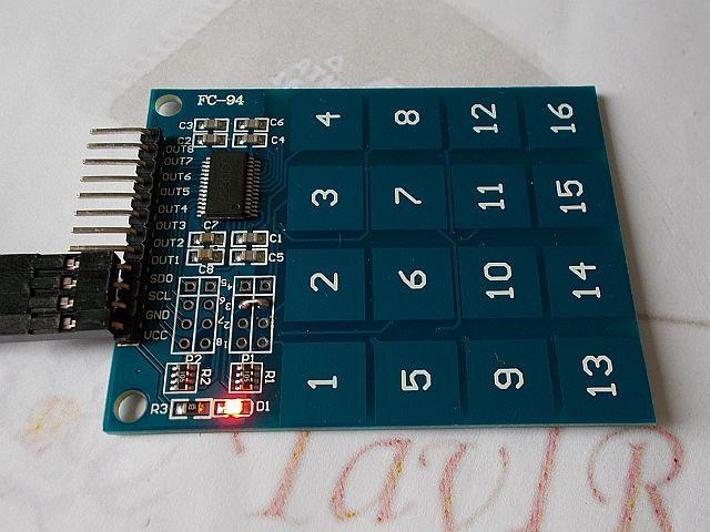 4x4 kapacitív érintőbillentyűzet (4x4 touch)