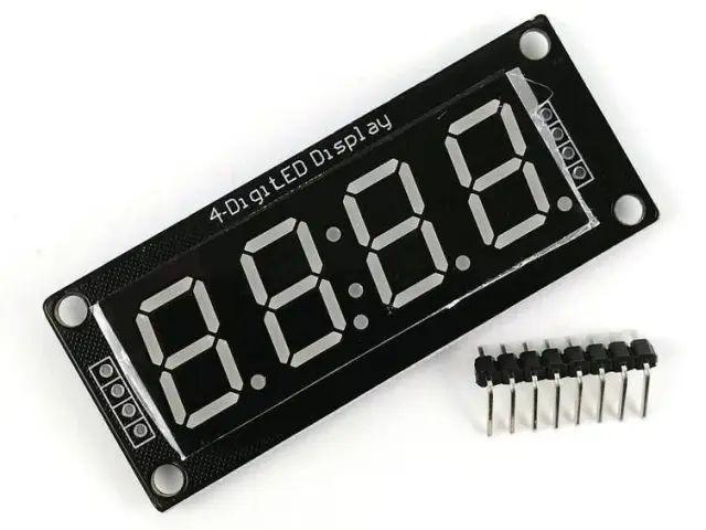 """4x 7szegmens LED (TM1637 vezérlő, 0.56"""", kék)"""