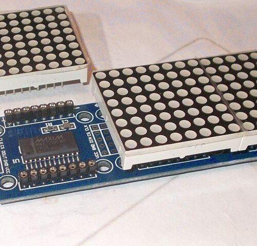 LED kijelző (mátrix, 7-szegmens)