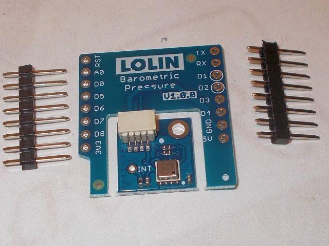 ESP8266/D1 nyomás-/hőmérő shield (D1 - HP3030B shield)