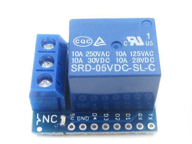ESP8266/D1 1 csatornás relémodul shield (D1 - Relay)