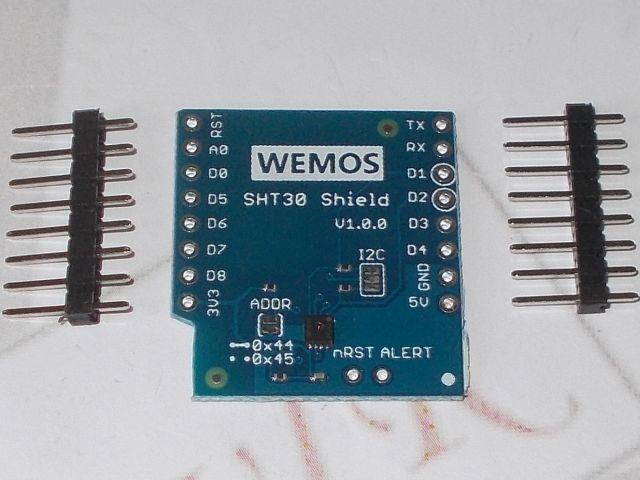 ESP8266/D1 modul páratartalom/hőmérőshield (D1 - SHT30-shield)