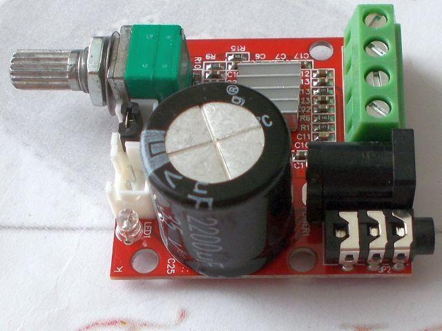 2x10W erősítő (PAM8610, 2x8R, hangerőszabályozó)