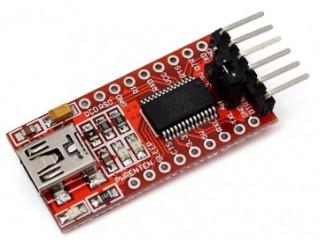 USB-Soros illesztő (3V3/5V) [FT232RL chipset, piros, clone]