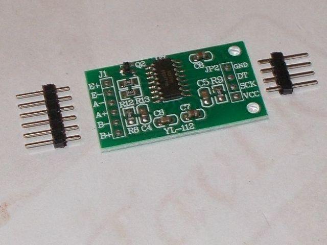 HX711 precíziós 24bites ADC modul (mérlegcellához)