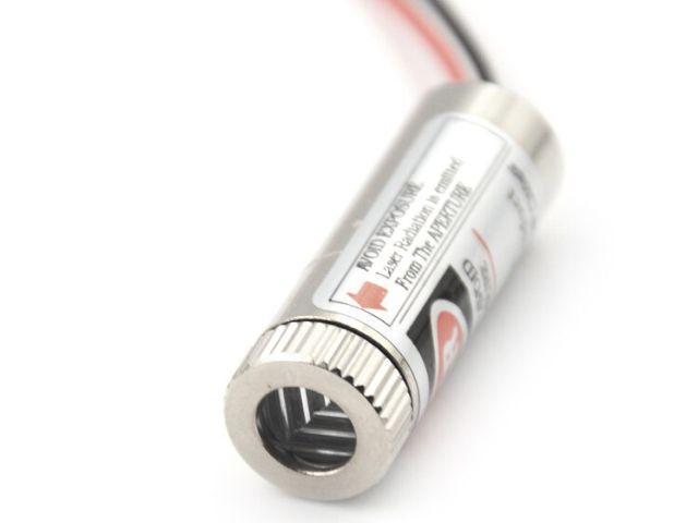 Vörös lézer kereszt-modul (5mW, fémház, red laser)