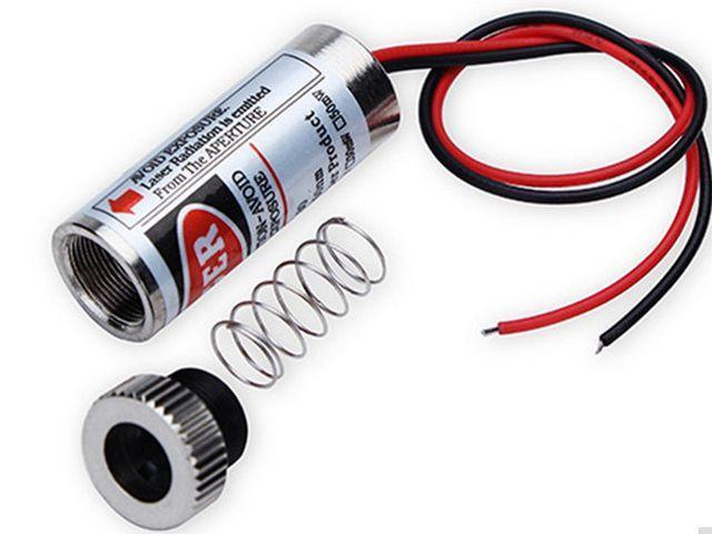 Vörös lézer pont-modul (5mW, fémház, red laser)