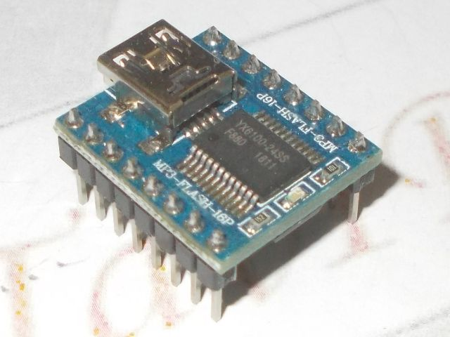 MP3 lejátszó modul (4MB memória; miniUSB)