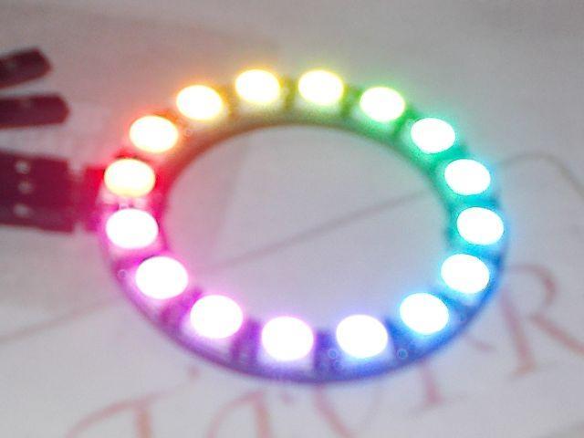 NeoPixel gyűrű RGB LED-sor (16x RGB LED, WS2812)