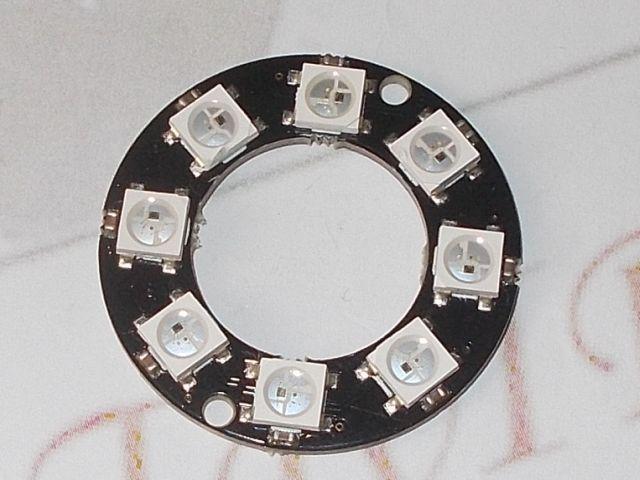 NeoPixel gyűrű RGB LED-sor (8x RGB LED, WS2812)
