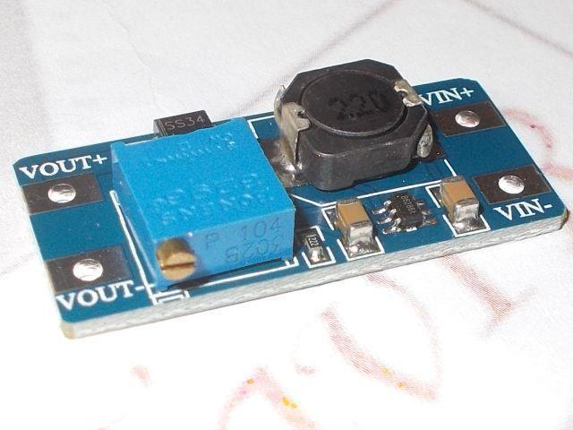 DC-DC step-up táp (MT3608; 2A)