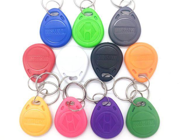 """125 kHz RFID kulcstartó - """"proxy"""" (fix kód, színes) [10db/pack]"""