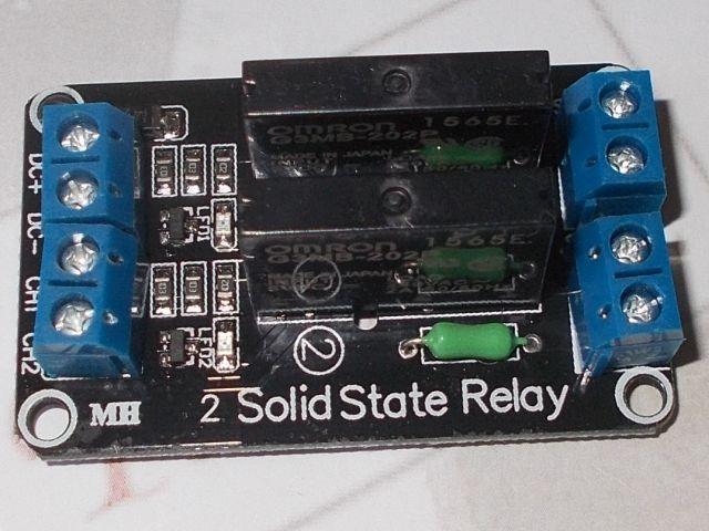 SSR-modul - 2-csatorna szilárdtest relé