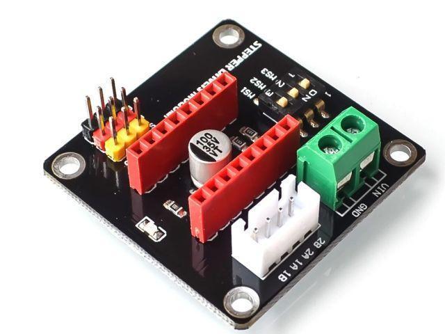 Stepper vezérlő modul tesztpanel/foglalat