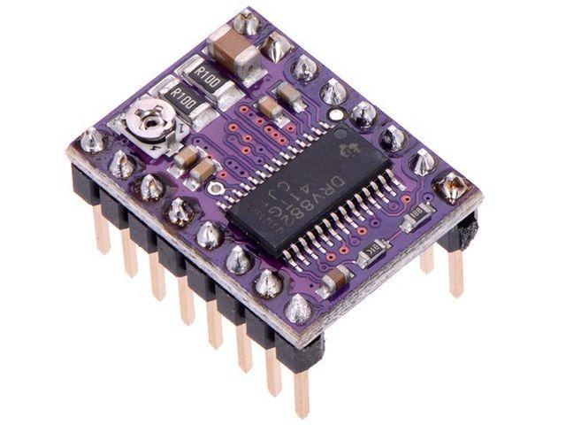 DRV8825 stepper vezérlő modul (hűtőbordával) [2.5A@8..45V]