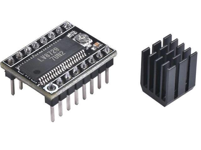 LV8729 stepper vezérlő modul (hűtőbordával) [1.5A@8..35V]