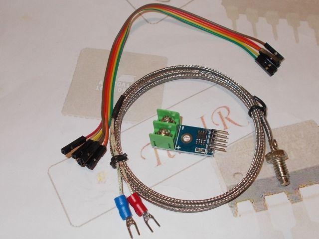 MAX6675 K-tip szerelt hőmérő modul (0...600C)