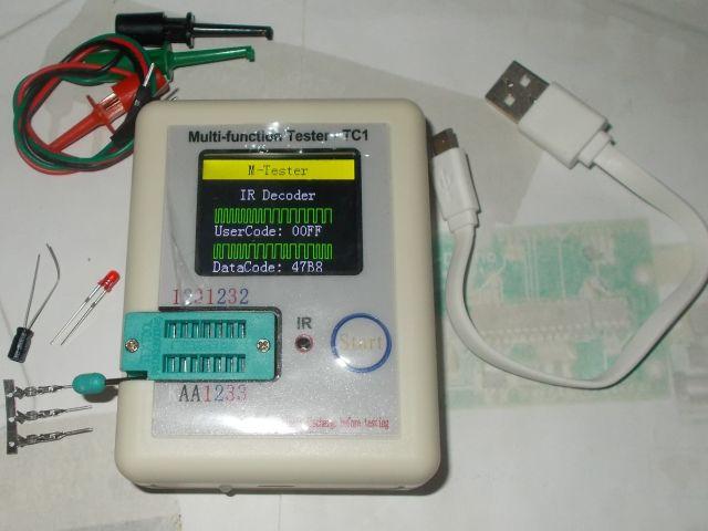 Univerzális félvezető-teszter - LCR-TC1 / LCR-T1