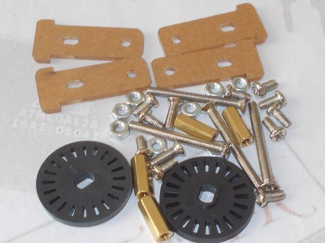 Két kerekű robotváz pótalkatrész készlet (2WD)