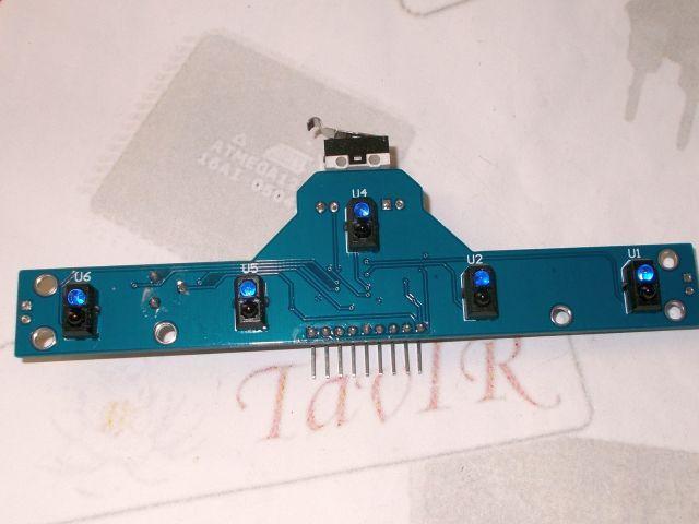 Vonalkövető szenzor (5 csatorna), távolságérzékelő