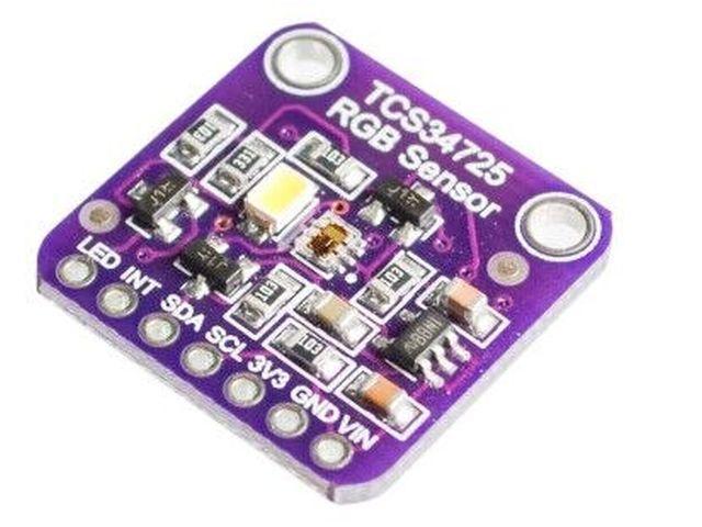 RGB színmérő (I2C; TCS3472; 3/5V)