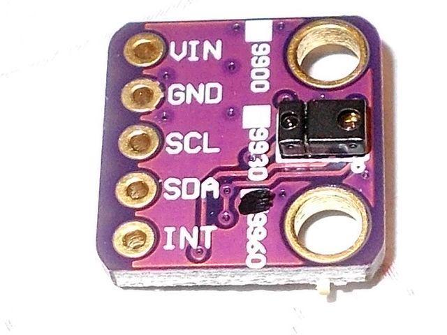 GY-9960 (APDS-9960) fényerő, RGB, távolság, gesztus szenzor