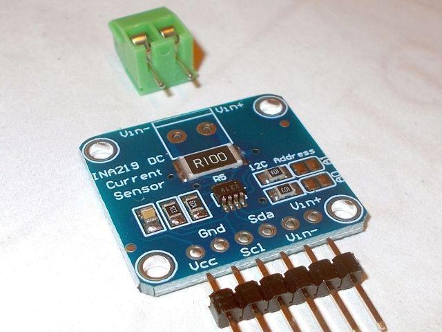 INA219 (0-3.2A; 0-26V) precíziós teljesítménymérő szenzor