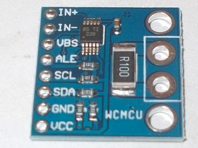 INA226 (0-36V) precíziós feszültség/áram/teljesítménymérő
