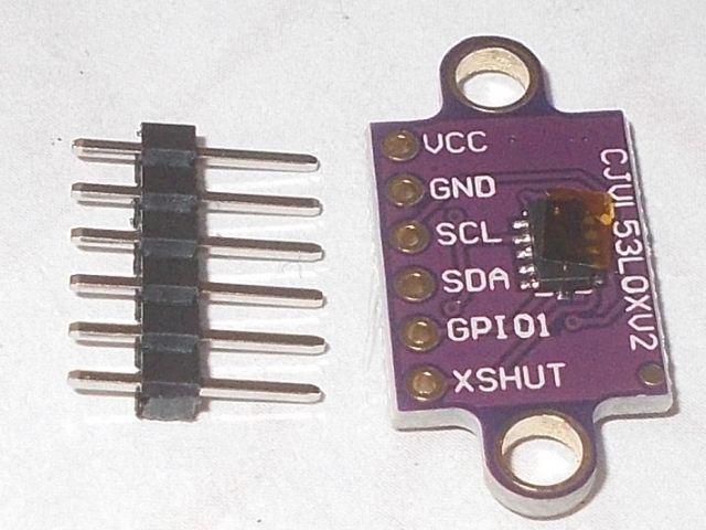 LIDAR távolságszenzor (lézer, precíziós távmérő; VL53L0X; füles)