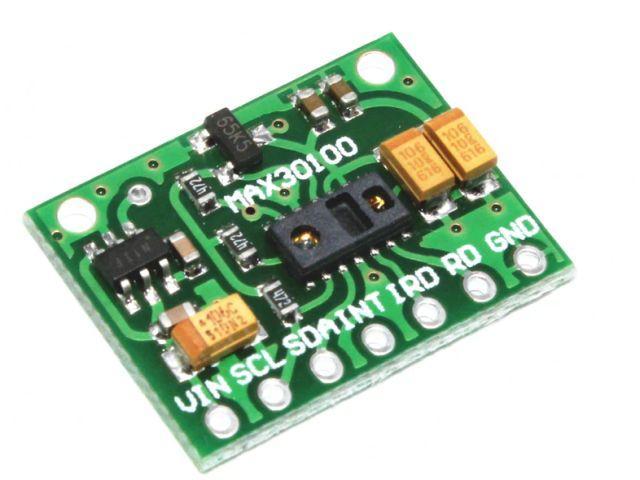 MAX30100 pulzus-oxigénszint mérő