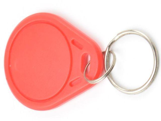 S50/Mifare (1k) piros RFID kulcstartó